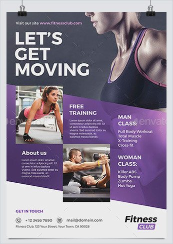 Fitness Flyer Template Free Best Fitness Business Flyers for Gym Marketing Hollymolly