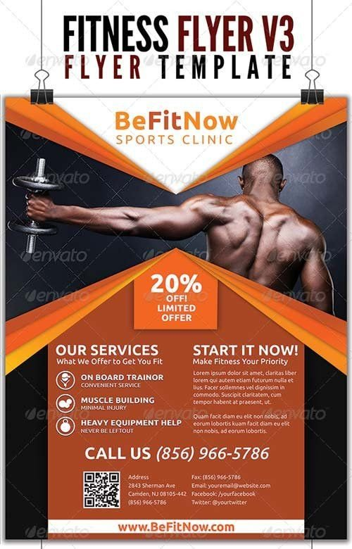 Fitness Flyer Template Free Fitness Flyer Google 搜尋 Inspire Fitness