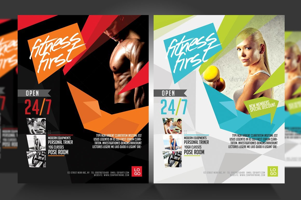 Fitness Flyer Template Free Fitness Flyer Gym Flyer V3 Flyer Templates Creative