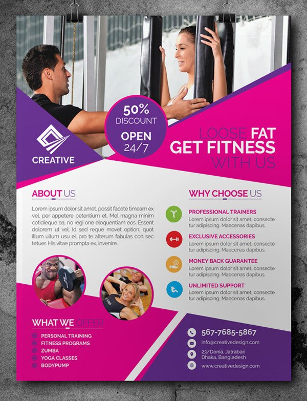 Fitness Flyer Template Free Free Psd Files Download 25 Ui Design Shop Psd