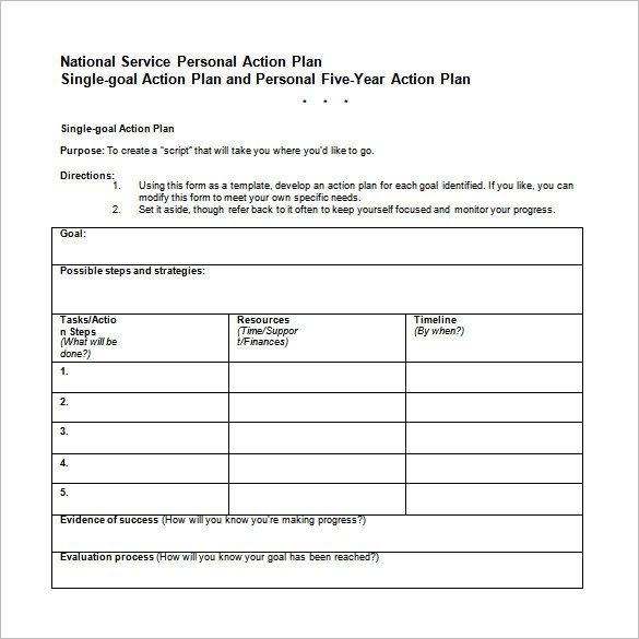 13 Career Action Plan Templates DOC PDF Excel
