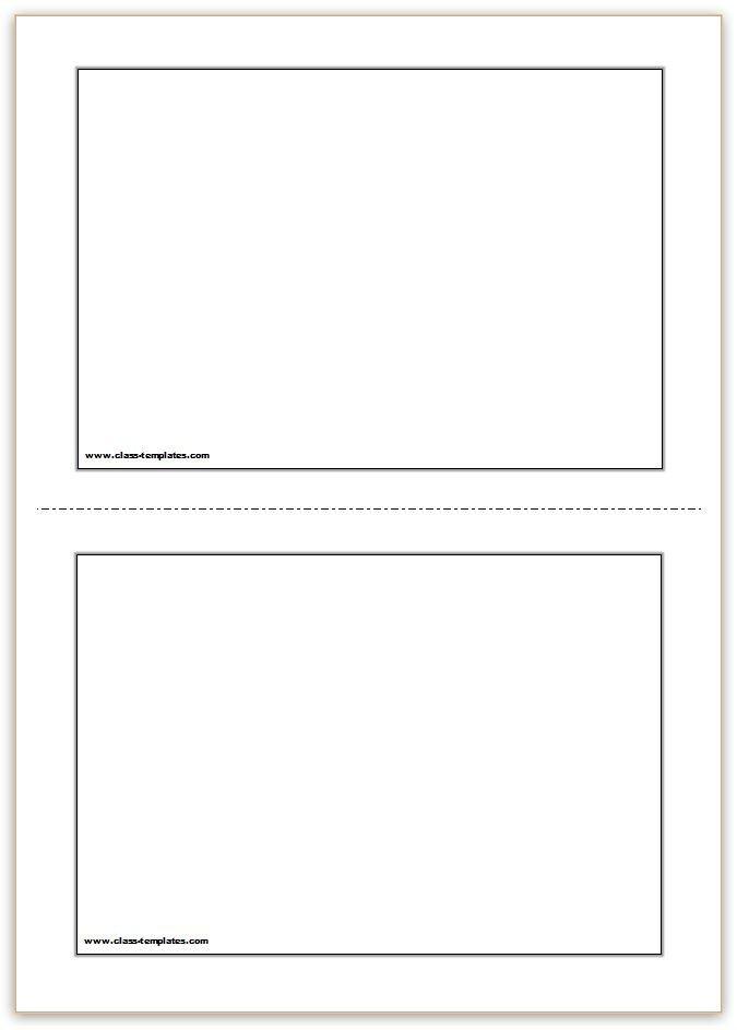 Flash Card Template Word Flash Card Template