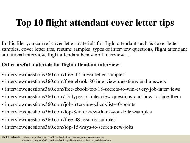 Flight attendant Cover Letter top 10 Flight attendant Cover Letter Tips