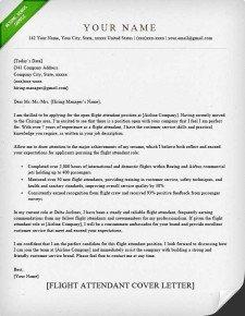 Flight attendant Resume Sample Flight attendant Cover Letter Sample