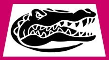 Florida Gator Pumpkin Stencil Carving Airbrush Tattoo Sport Team Stencils Airbrush Bodyart