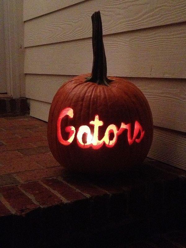 Florida Gator Pumpkin Stencil Carving Florida Gators Carved Pumpkin