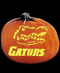 Florida Gator Pumpkin Stencil Carving Spookmaster Florida Gators College Football Team Pumpkin
