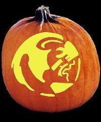 Florida Gator Pumpkin Stencil Carving Spookmaster Florida State Seminoles College Football