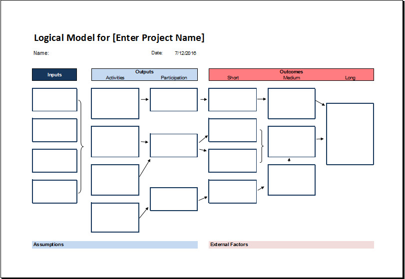 Flow Chart Template Excel Logical Model Flow Chart Template for Excel