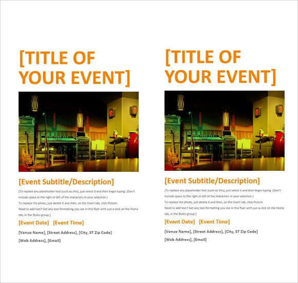 Flyer Template Ms Word 12 Microsoft Flyer Templates Download Free Documents In