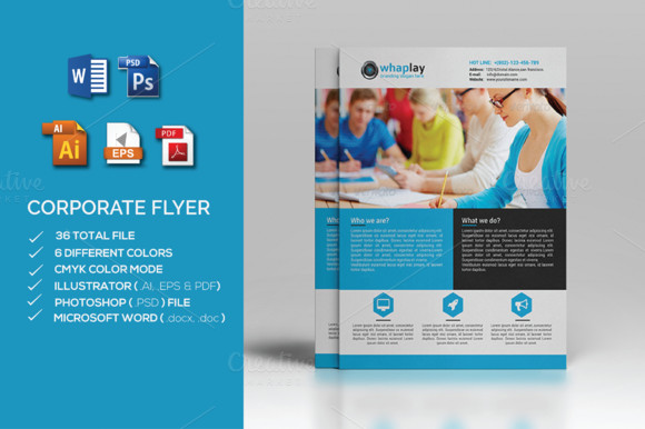 Flyer Template Ms Word Corporate Flyer Ms Word Flyer Templates On Creative Market
