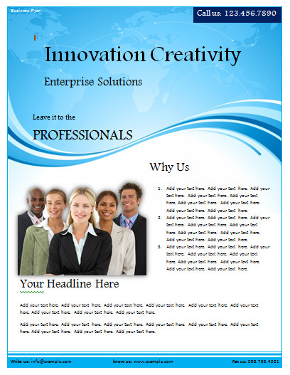 Flyer Templates Free Word Business Flyer Template Microsoft Word Templates