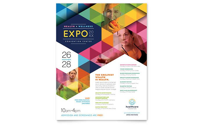Flyer Templates Free Word Health Fair Flyer Template Word & Publisher