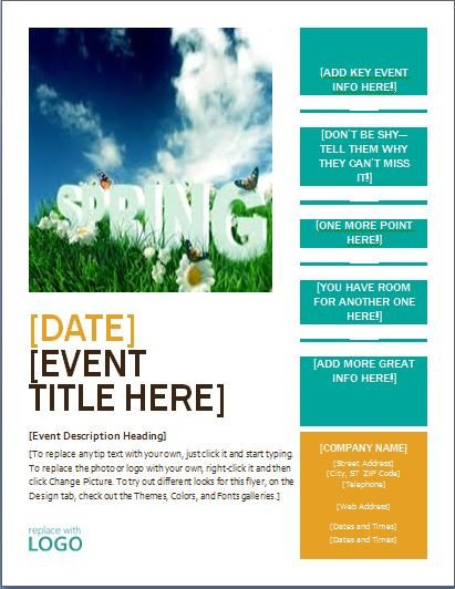 Flyer Templates Free Word Ms Word Seasonal event Flyer Templates