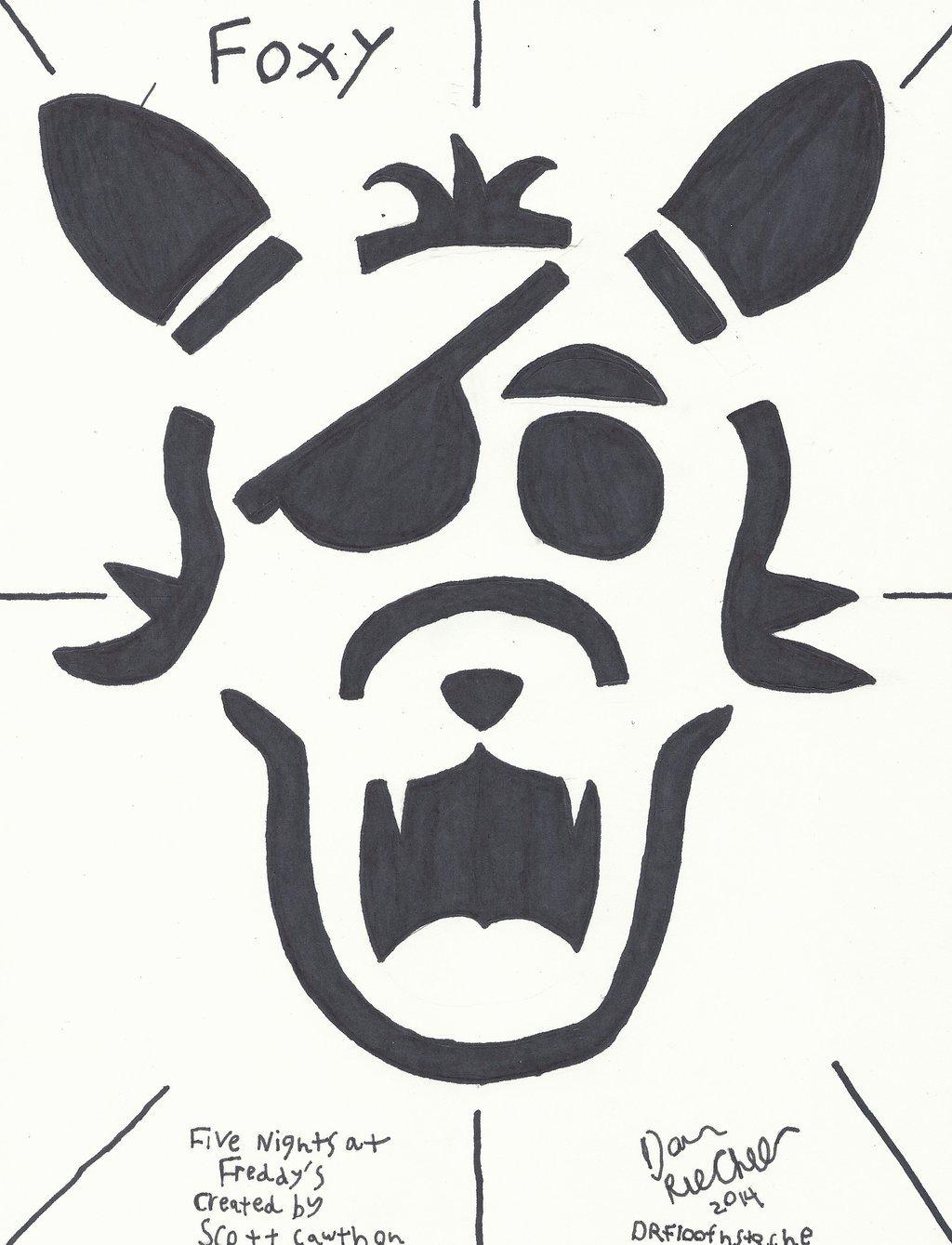F N A F Foxy Jack O Lanturn layout by DRFloofnstache on