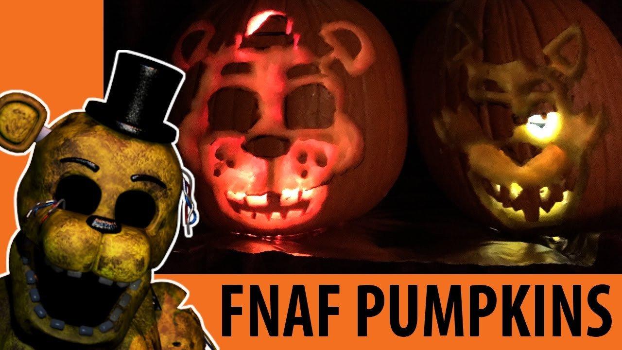 Fnaf Foxy Pumpkin Stencil Fnaf Pumpkins for Halloween Scary Jack O Lanterns