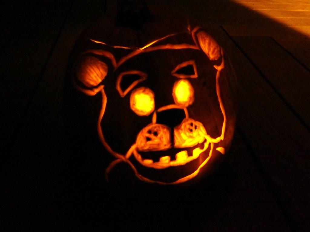 Fnaf Foxy Pumpkin Stencil Freddy Fazbear Pumpkin by Shadowheart626