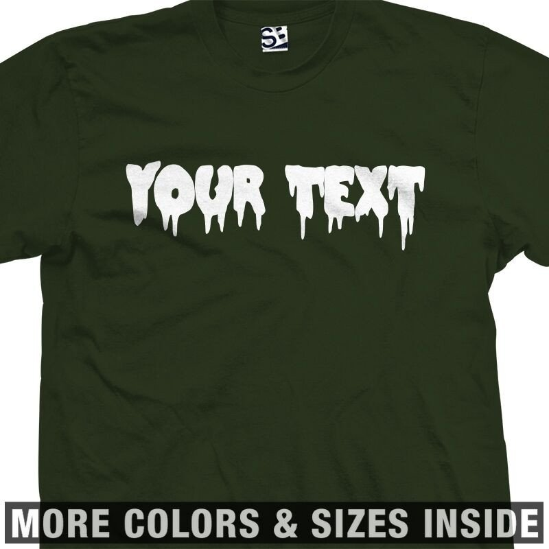 Custom Creepy Scary Font T Shirt All Sizes & Colors