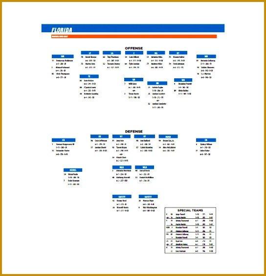 Football Depth Chart Template Excel 3 toledo Football Depth Chart