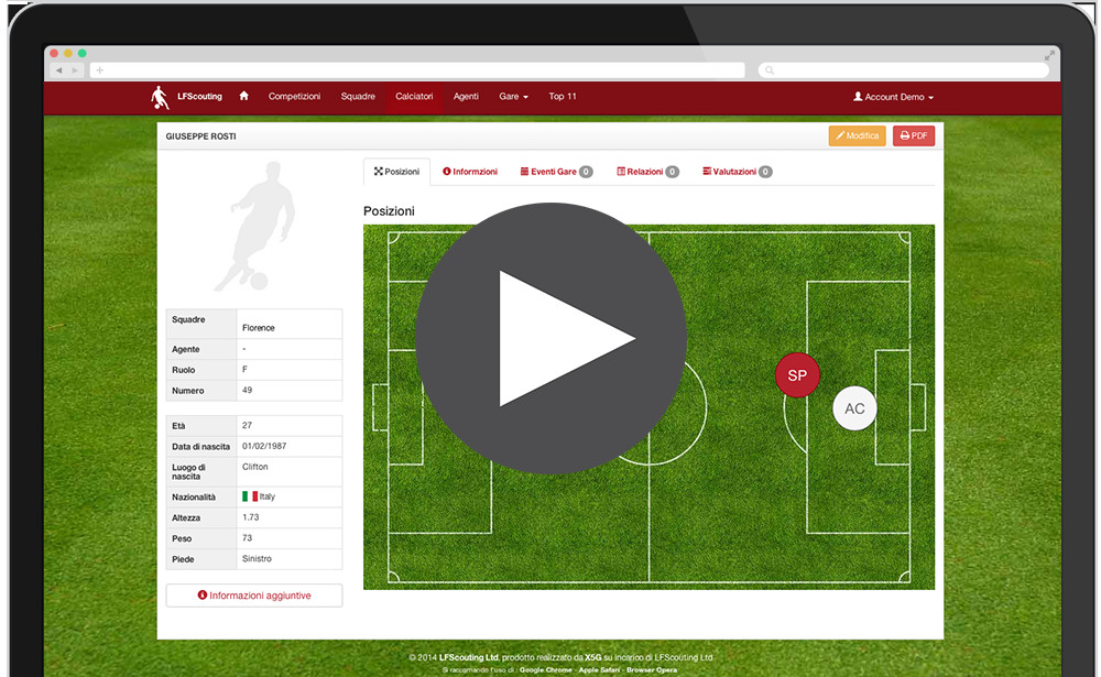 Football Scouting Template Free Lfscouting – New Professional Scouting software for