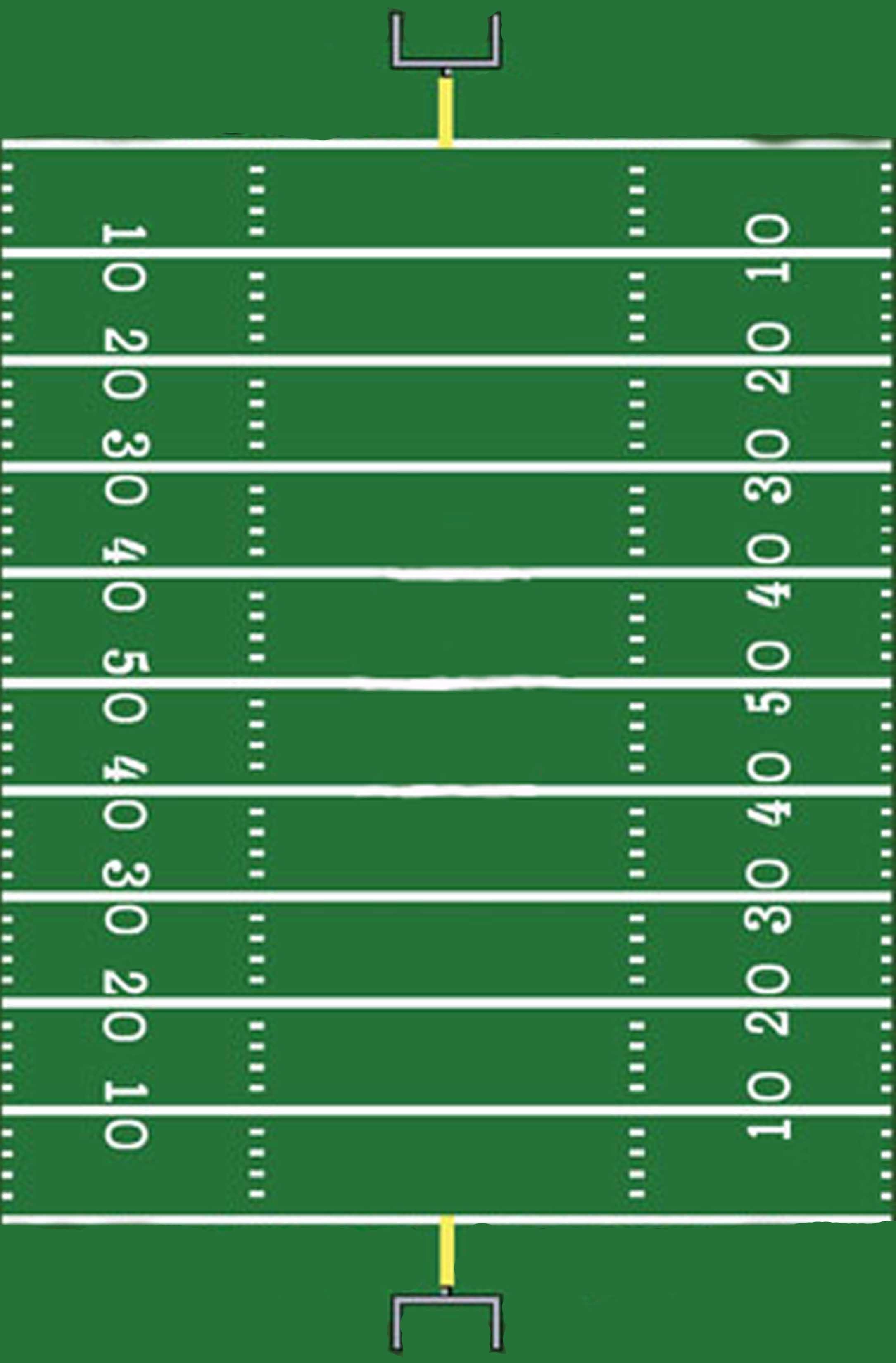 Football Yard Sign Template Free Football Field Clipart Clipartix