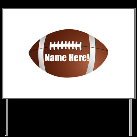 Personalized Football Yard Sign by cutetshirts t