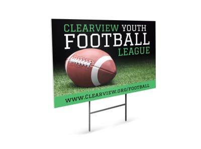 Football Yard Sign Template Sports & Wellness Yard Sign Templates