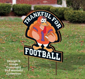 Football Yard Sign Template Thanksgiving Turkey Football Sign Pattern