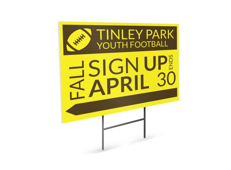 Football Yard Sign Template Tinley Youth Football Yard Sign Template