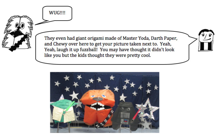 Fortune Wookiee Paper Print Out the fortune Wookiee and Han Foldo Talk About their Book