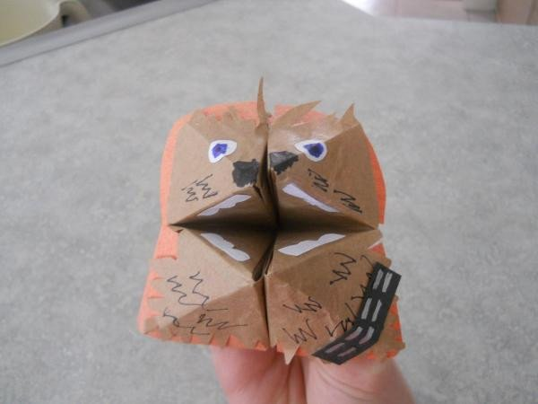 Fortune Wookiee Paper Print Out Wookie Search Results origami Yoda
