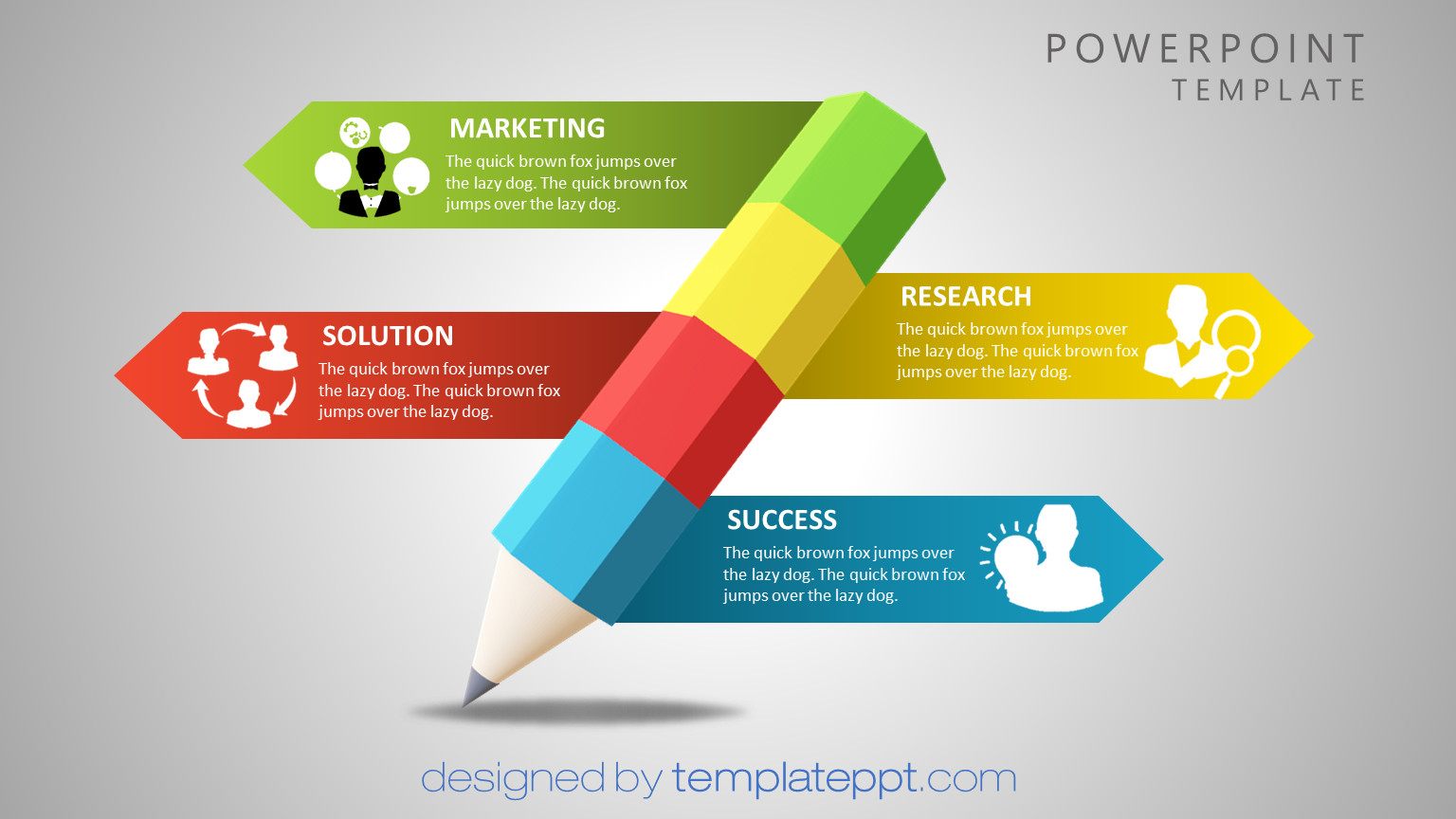 3D animated PowerPoint templates free using Paint