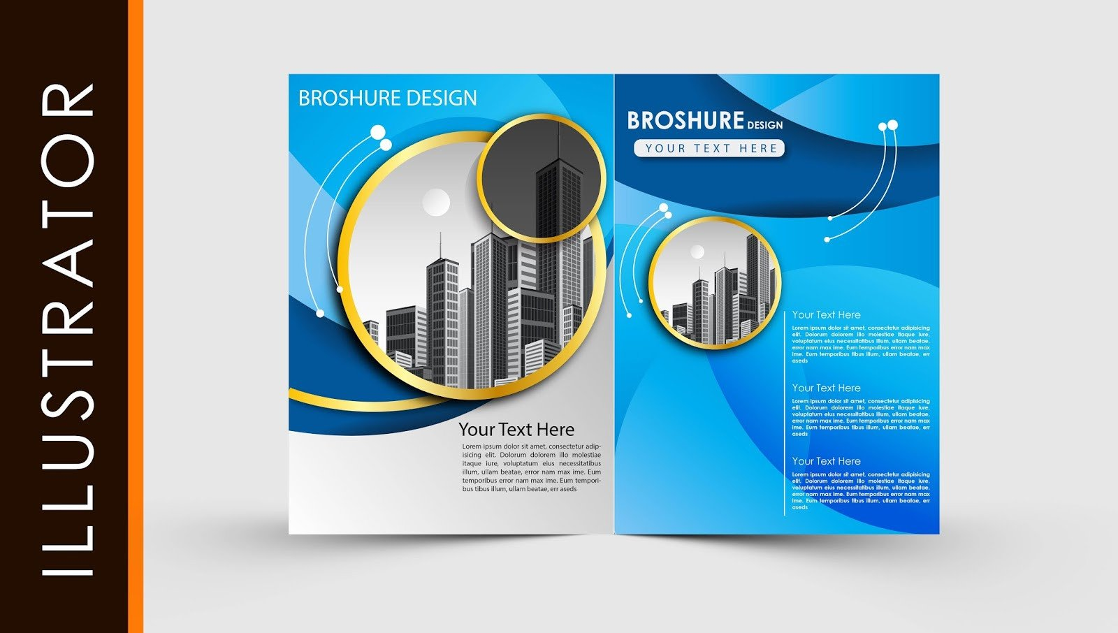 Free Adobe Illustrator Templates Free Download Adobe Illustrator Template Brochure Two Fold