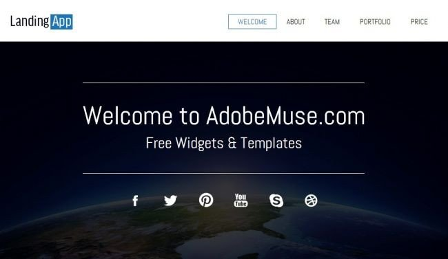 Free Adobe Muse Templates 12 Best Images About Adobe Muse On Pinterest