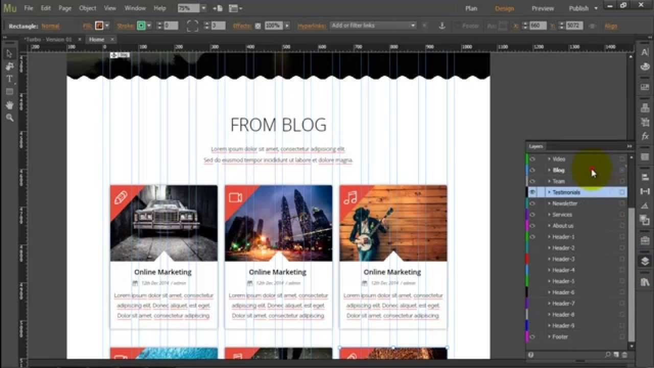 "Free Adobe Muse Templates Adobe Muse Template ""turbo Business"""