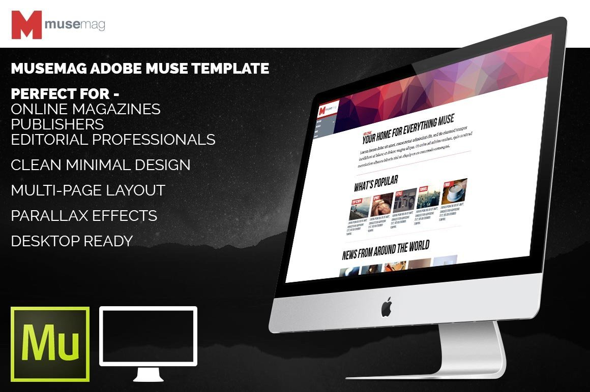 Free Adobe Muse Templates Musemag Adobe Muse Template Website Templates