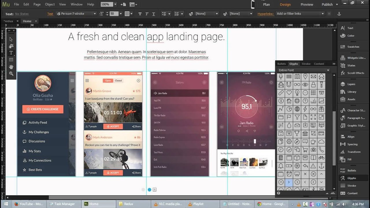 Free Adobe Muse Templates Redux Free App Landing Page Template for Adobe Muse Cc