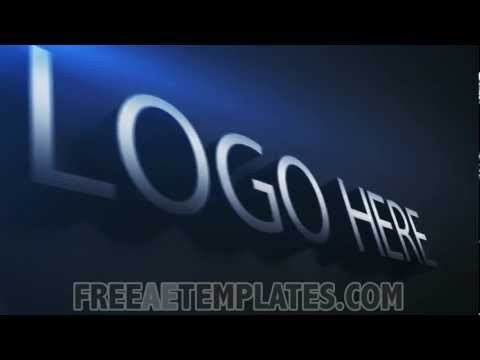 """Free after Effects Logo Templates Free Modern after Effects Logo Template """"logo Elegance"""