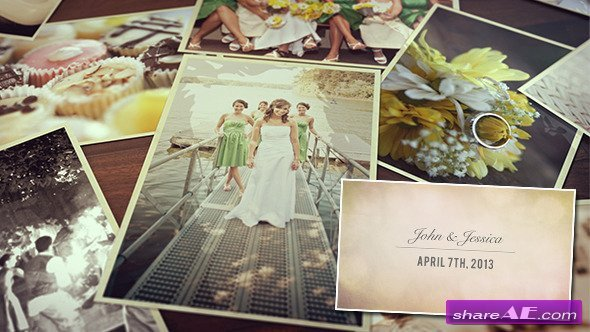 Free after Effects Slideshow Template Wedding S Slideshow after Effects Project