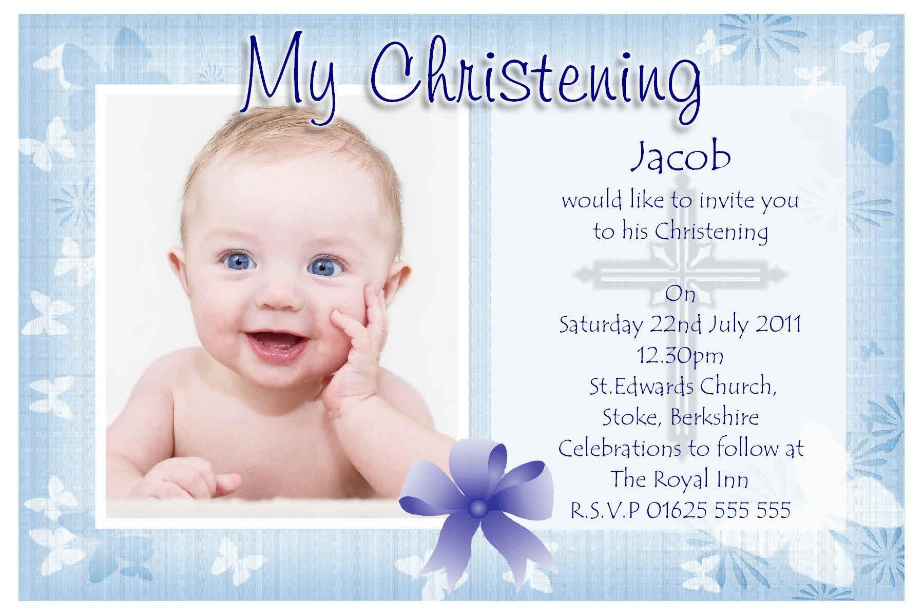 baptism invitations Free Baptism Invitation Template