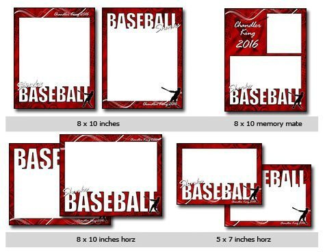 Free Baseball Card Template Sports Baseball Vol 4 Phototshop and Elements Templates
