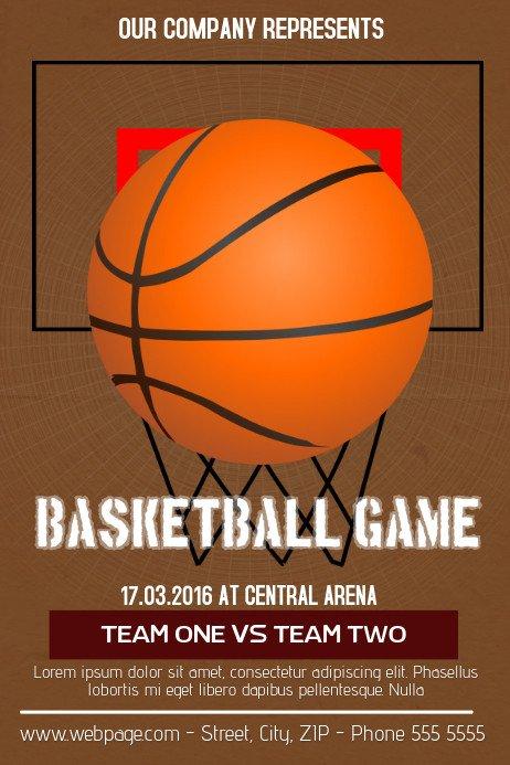 Free Basketball Flyer Template Basketball Flyer Template
