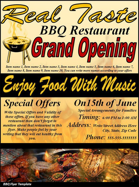Free Bbq Flyer Template 20 Bbq Flyer Templates – Free Word Pdf Psd Eps