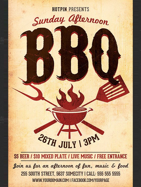 Free Bbq Flyer Template 25 Bbq Flyer Templates Psd Ai Word Eps Vector format