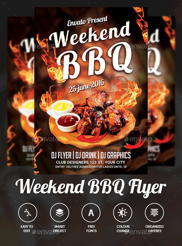 Free Bbq Flyer Template 31 Bbq Flyer Templates Psd Vector Eps Jpg Download