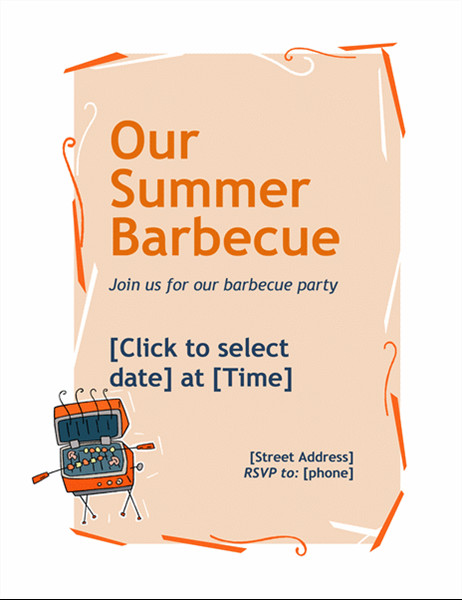 Free Bbq Flyer Template Bbq Invitation Flyer
