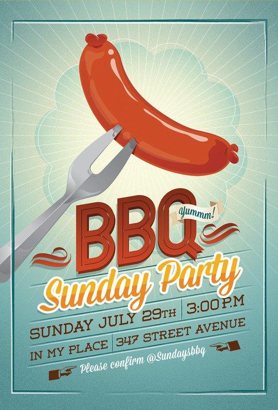 Free Bbq Flyer Template Bbq Party Flyer Invitation by Hitomodachi On Deviantart
