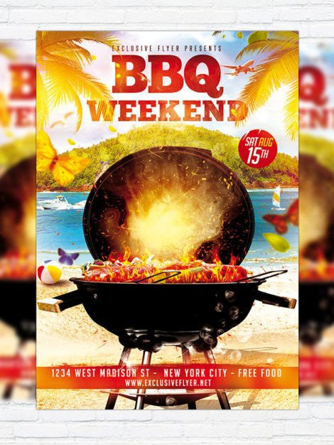 BBQ Weekend – Premium Flyer Template Cover
