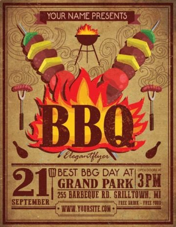 Free Bbq Flyer Template Download the Best Free Barbecue Flyer Psd Templates for