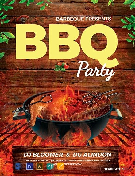 Free Bbq Flyer Template Free Bbq Flyer Template Download 1031 Flyers In Psd